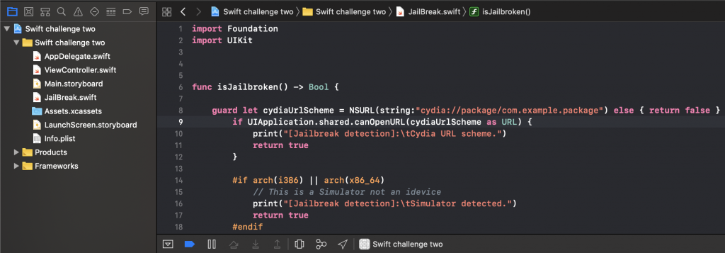 iOS: Defeating Swift jailbreak detection – Basement